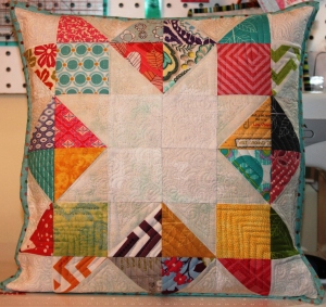 Scrappy Pillowcase- Inverted Star Block