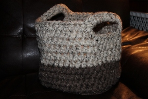 Crochet Basket from AnnaMichelleQuilts