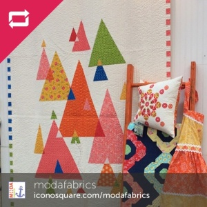 Fancy collection: Little Cabin Quilt and Sunshine Meadow Apron.