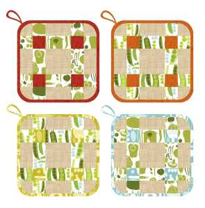 FRESH PICK_8X8_POTHOLDER SET