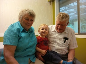 My awesome Grandparents and little H