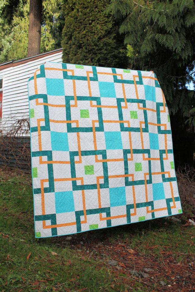 Linked In- Fabric provided by Michael Miller Fabrics, Batting from the Warm Company