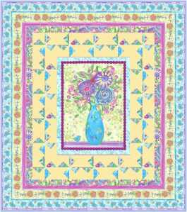 LOVE IN BLOOM_46x52_SPRINGTIME BABY QUILT