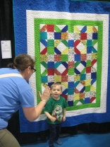 High Five from @hushrules in front of his favorite quilt