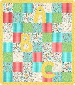ABC PLay Quilt- Featuring the ABC Flannel Collection by